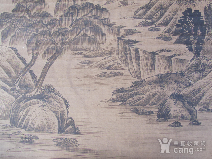联盟  旧藏国画山水中堂图4