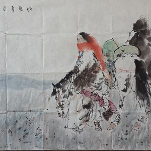 刘大伟国画作品6尺横幅软片
