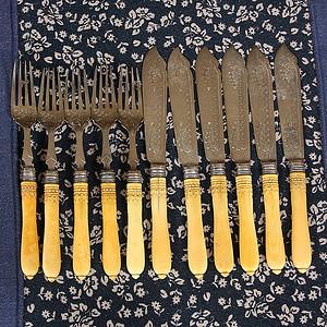 特殊材质 回流刀叉餐具11件套
