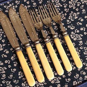 特殊材质 回流刀叉餐具6件套