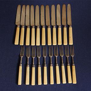 特殊材质 回流刀叉餐具21件套