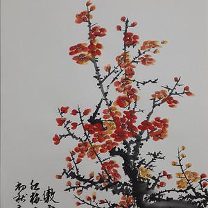 元龙国画红梅图