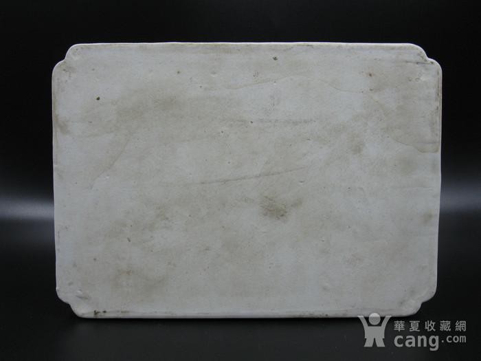 绛彩山水人物瓷盘图5