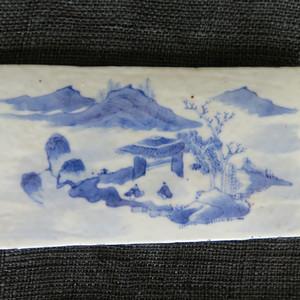 精品   清代山水楼阁瓷板