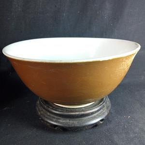 清末民国酱釉碗