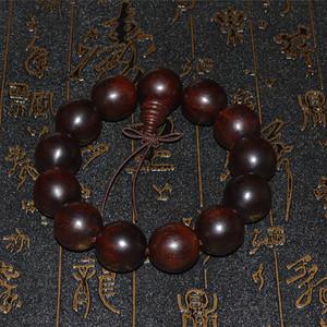 印度高密带金星牛毛纹老料小叶紫檀手串