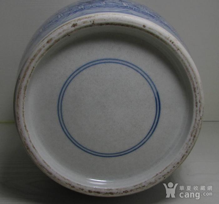 康熙青花开光博古纹盘口尊图10