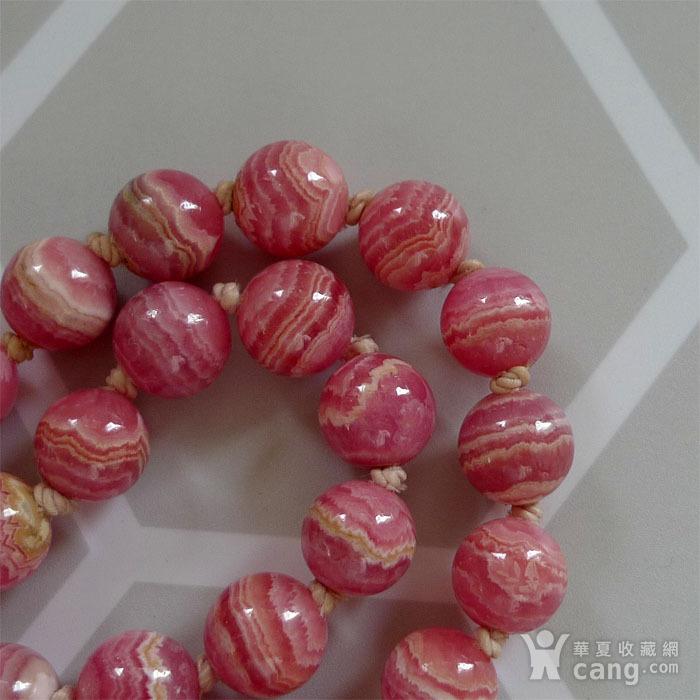 30年代欧式顶级天然红纹石珠链 K金  183 孤品 图1