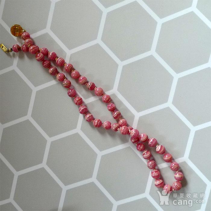30年代欧式顶级天然红纹石珠链 K金  183 孤品 图8