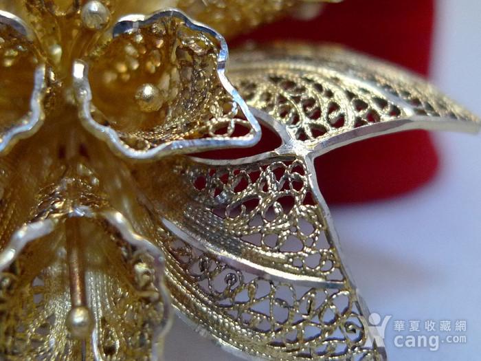 欧式银掐丝鎏金胸针图4