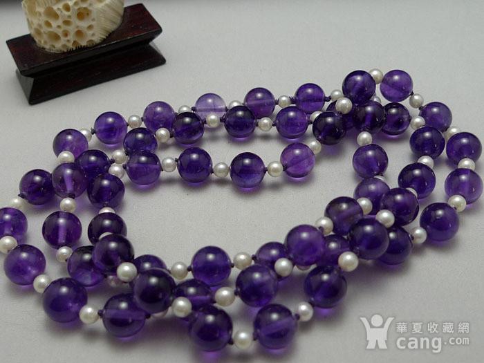 欧洲原工天然紫水晶 珍珠项链 二月石图2
