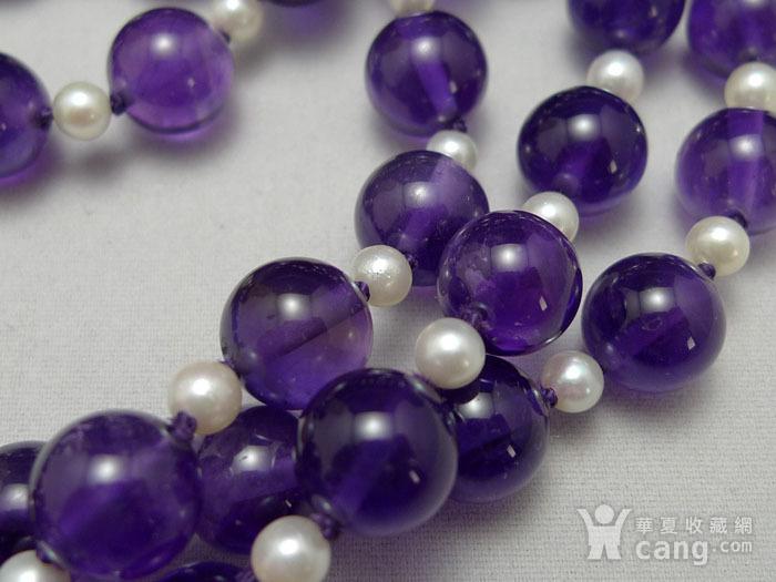 欧洲原工天然紫水晶 珍珠项链 二月石图3