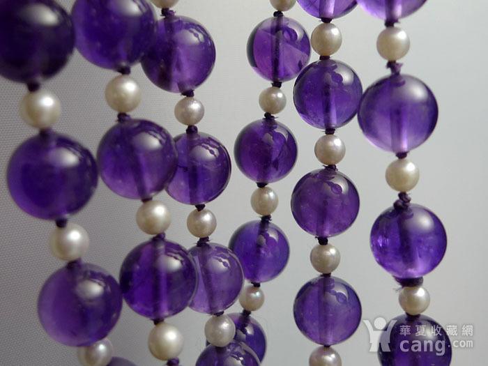 欧洲原工天然紫水晶 珍珠项链 二月石图1