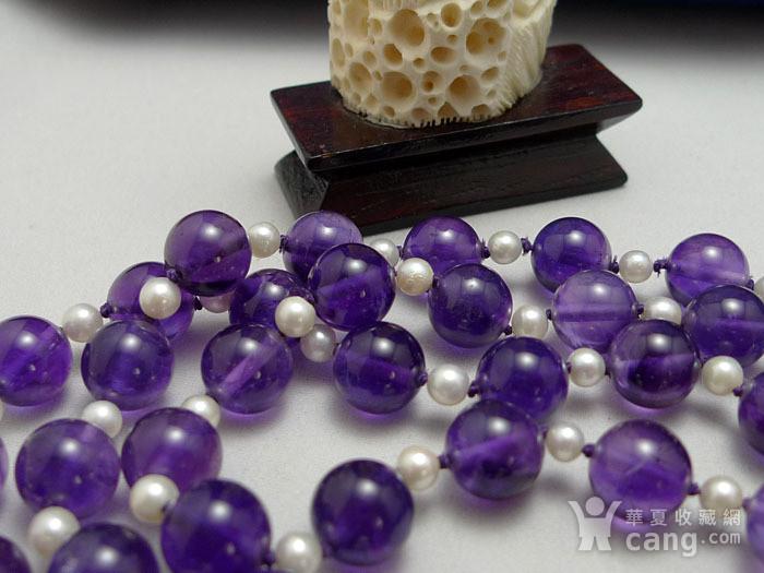 欧洲原工天然紫水晶 珍珠项链 二月石图4