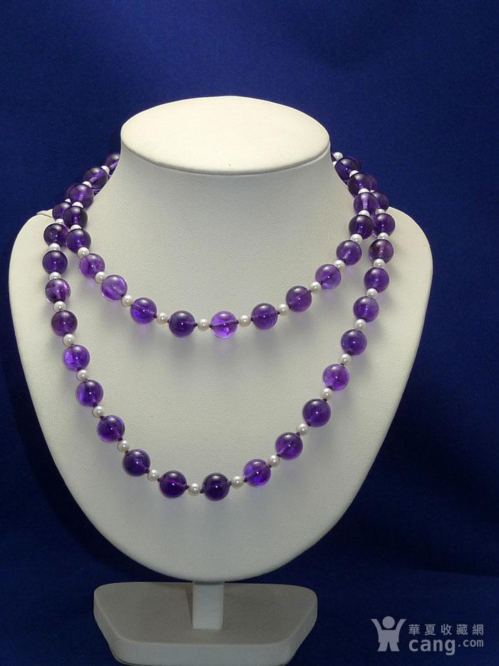 欧洲原工天然紫水晶 珍珠项链 二月石图5