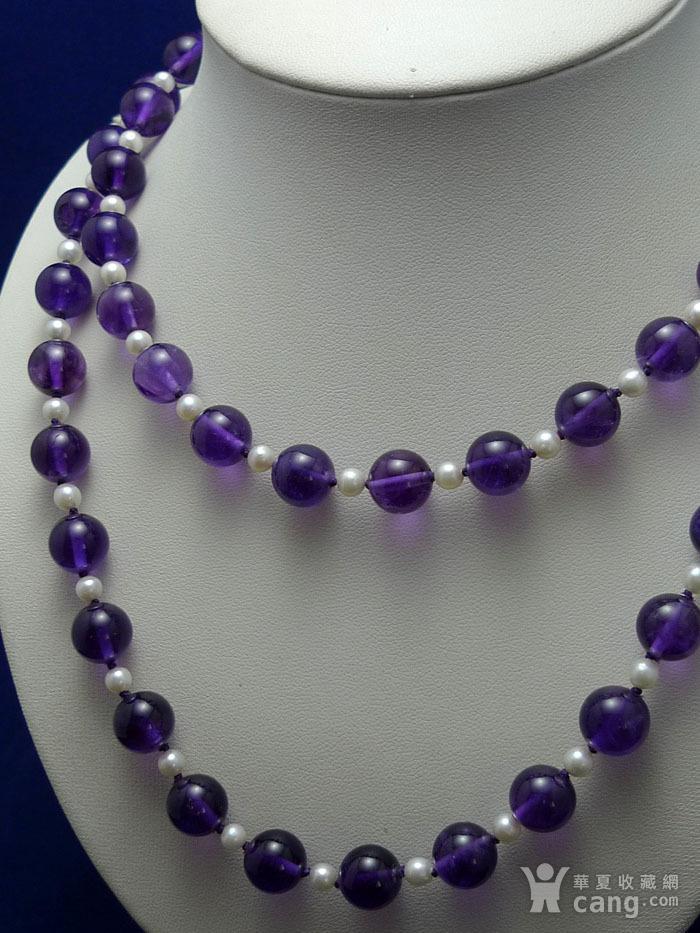 欧洲原工天然紫水晶 珍珠项链 二月石图6