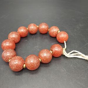 战国红玛瑙珠子