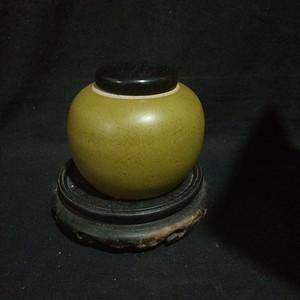 茶叶末釉小罐