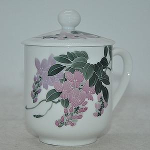 湖南瓷研所精制釉下彩茶杯