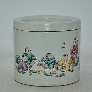 70 80年代人物粉彩蛐蛐罐