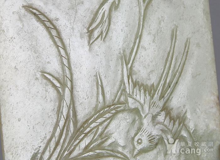 书房雅器  清代浅浮雕花鸟插屏一对图5