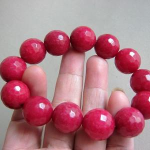 金牌 巴西玫瑰红宝石手串