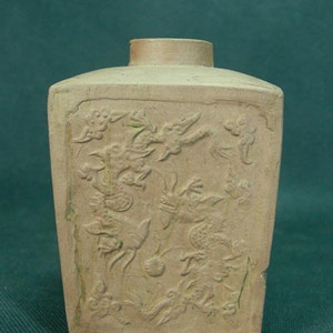 清代中期天圆地方龙凤茶叶罐