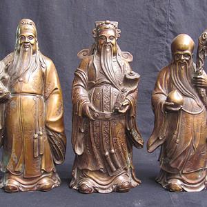 铜鎏金仰俯莲座佛像