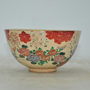 日本茶道粉彩茶碗