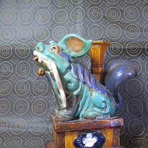 民国石湾瑞兽塑像