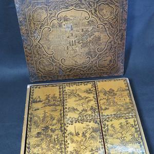 清代金漆描金珍宝盒