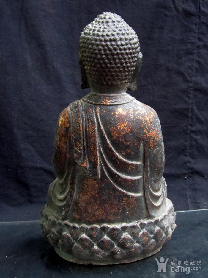 铜鎏金仰莲座佛像图8