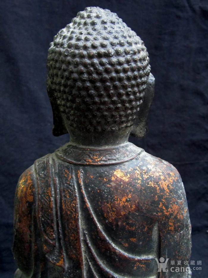 铜鎏金仰莲座佛像图9