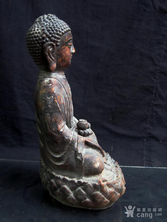 铜鎏金仰莲座佛像图11