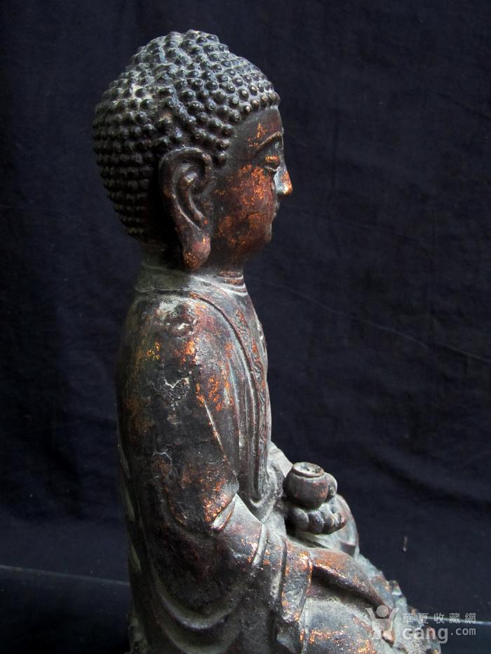 铜鎏金仰莲座佛像图12