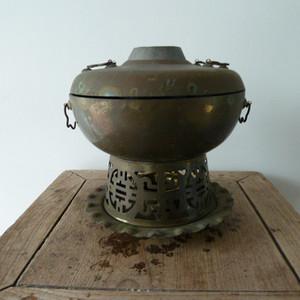 晚清民国铜火锅炉