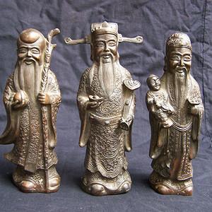 福禄寿三星铜像
