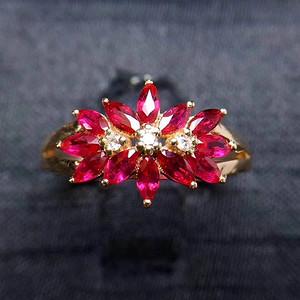 天然缅甸红宝石戒指