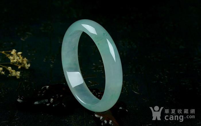 翡翠 冰种绿宽边手镯 55.93g图7