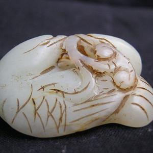 和田青白玉夫妻和美对鸽挂件