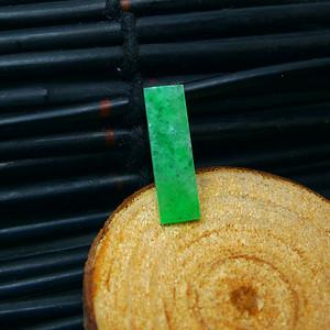 冰润满绿平安牌戒面