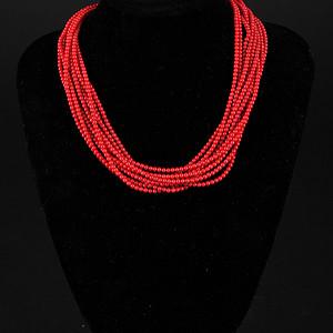 精美时尚阿卡级红珊瑚项链