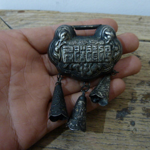 清代老银锁