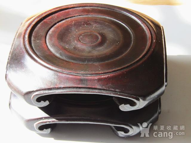 老料 小叶紫檀 整块料雕刻 大底座一对 包浆老厚图6