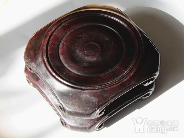 老料 小叶紫檀 整块料雕刻 大底座一对 包浆老厚图2