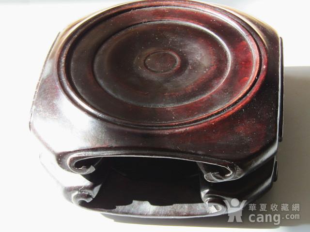 老料 小叶紫檀 整块料雕刻 大底座一对 包浆老厚图9