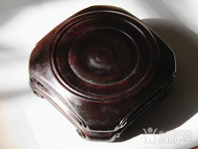 老料 小叶紫檀 整块料雕刻 大底座一对 包浆老厚图7
