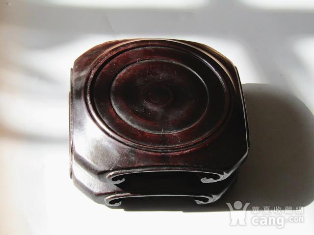 老料 小叶紫檀 整块料雕刻 大底座一对 包浆老厚图4