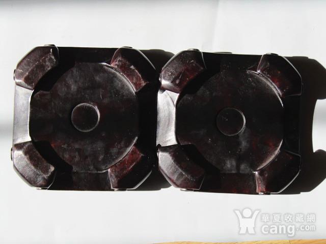 老料 小叶紫檀 整块料雕刻 大底座一对 包浆老厚图10