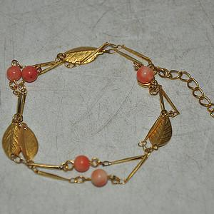 4.8克嵌珊瑚珠手链